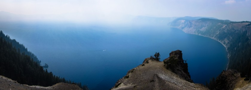 Crater Lake, During a Wildfire