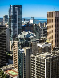 Downtown Vancouver, from Harbour Centre