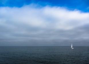 Sailboat on Monterey Bay
