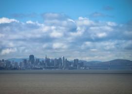 San Francisco from the San Mateo Bridge