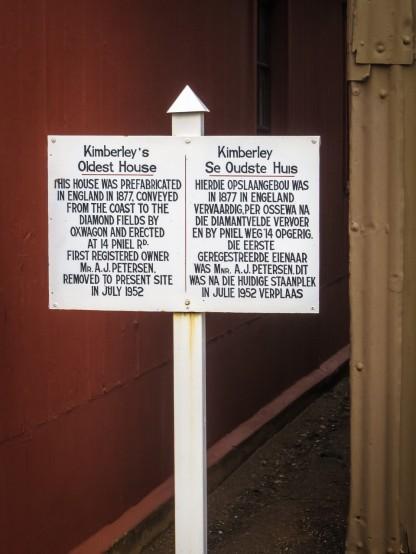 Kimberley Se Oudste Huis