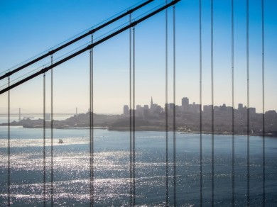 San Francisco through the Bridge, in Daylight