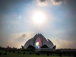 Lotus Temple & Sun